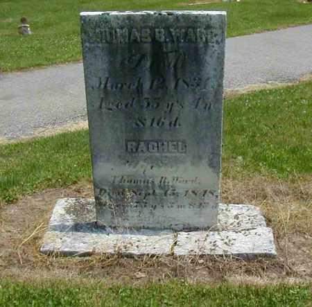 WARD, RACHEL - Preble County, Ohio | RACHEL WARD - Ohio Gravestone Photos