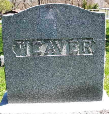 WEAVER, MONUMENT - Preble County, Ohio | MONUMENT WEAVER - Ohio Gravestone Photos