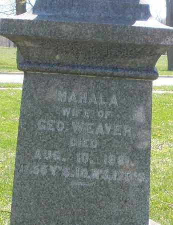 WEAVER, MAHALA - Preble County, Ohio   MAHALA WEAVER - Ohio Gravestone Photos