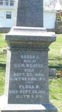 WEAVER, SARAH J. - Preble County, Ohio | SARAH J. WEAVER - Ohio Gravestone Photos