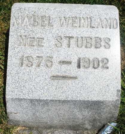 WEINLAND, MABEL - Preble County, Ohio | MABEL WEINLAND - Ohio Gravestone Photos