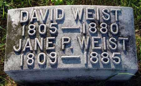 WEIST, JANE - Preble County, Ohio | JANE WEIST - Ohio Gravestone Photos