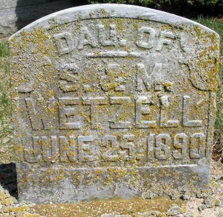 WETZELL, DAUGHTER - Preble County, Ohio | DAUGHTER WETZELL - Ohio Gravestone Photos