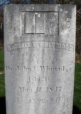 WHITRIDGE, RACHAEL E. - Preble County, Ohio | RACHAEL E. WHITRIDGE - Ohio Gravestone Photos