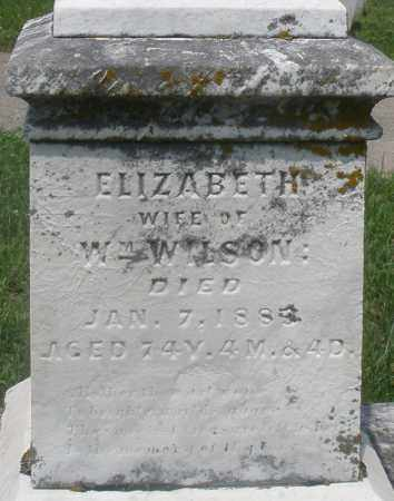 WILSON, ELIZABETH - Preble County, Ohio   ELIZABETH WILSON - Ohio Gravestone Photos