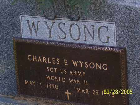 WYSONG, CHARLES E. - Preble County, Ohio | CHARLES E. WYSONG - Ohio Gravestone Photos