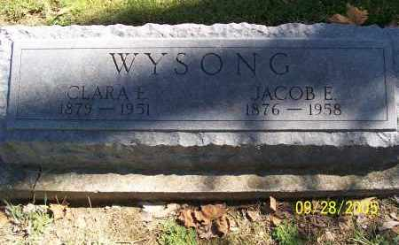 WYSONG, CLARA E - Preble County, Ohio | CLARA E WYSONG - Ohio Gravestone Photos