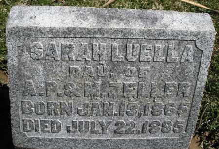 ZELLER, SARAH LUELLA - Preble County, Ohio | SARAH LUELLA ZELLER - Ohio Gravestone Photos