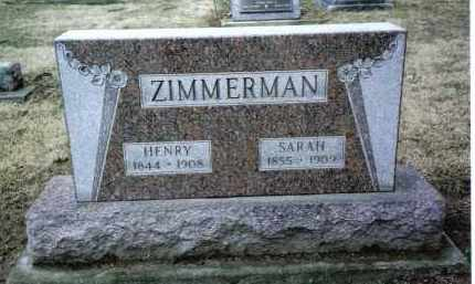 ZIMMERMAN, SARAH - Preble County, Ohio | SARAH ZIMMERMAN - Ohio Gravestone Photos
