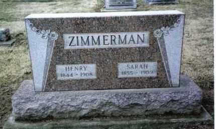 ZIMMERMAN, HENRY - Preble County, Ohio | HENRY ZIMMERMAN - Ohio Gravestone Photos
