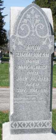 ZIMMERMAN, JOHN - Preble County, Ohio   JOHN ZIMMERMAN - Ohio Gravestone Photos