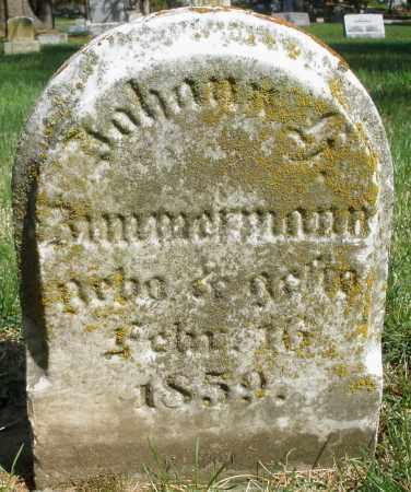 ZIMMERMANN, JOHANN - Preble County, Ohio   JOHANN ZIMMERMANN - Ohio Gravestone Photos