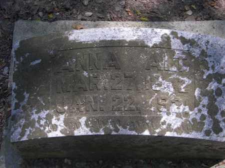 ALT, ANNA - Putnam County, Ohio   ANNA ALT - Ohio Gravestone Photos