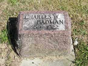 BADMAN, CHARLES W - Putnam County, Ohio | CHARLES W BADMAN - Ohio Gravestone Photos