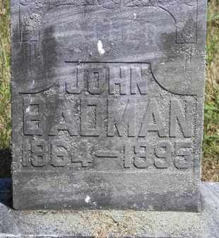 BADMAN, JOHN - Putnam County, Ohio | JOHN BADMAN - Ohio Gravestone Photos