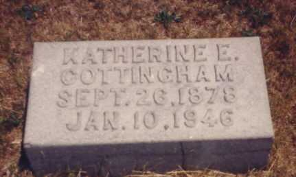 COTTINGHAM, KATHERINE E. - Putnam County, Ohio | KATHERINE E. COTTINGHAM - Ohio Gravestone Photos