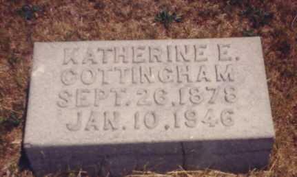 HARRISON COTTINGHAM, KATHERINE E. - Putnam County, Ohio | KATHERINE E. HARRISON COTTINGHAM - Ohio Gravestone Photos