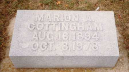 COTTINGHAM, MARION A. - Putnam County, Ohio | MARION A. COTTINGHAM - Ohio Gravestone Photos