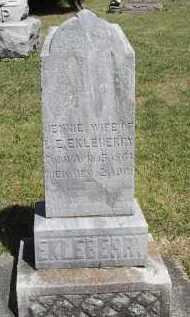 EKLEBERRY, JENNIE - Putnam County, Ohio   JENNIE EKLEBERRY - Ohio Gravestone Photos