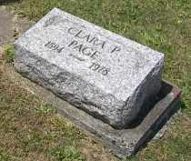 PAGE, CLARA - Putnam County, Ohio   CLARA PAGE - Ohio Gravestone Photos