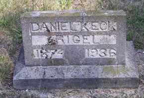 RIGEL, DANIEL KECK - Putnam County, Ohio   DANIEL KECK RIGEL - Ohio Gravestone Photos