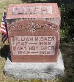 HOY SAER, MARY - Putnam County, Ohio | MARY HOY SAER - Ohio Gravestone Photos