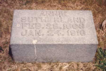 SUTHERLAND, ANNIE - Putnam County, Ohio | ANNIE SUTHERLAND - Ohio Gravestone Photos
