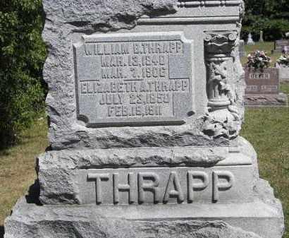 THRAPP, WILLIAM B - Putnam County, Ohio | WILLIAM B THRAPP - Ohio Gravestone Photos