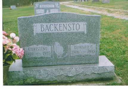 BACKENSTO, CHRISTINE - Richland County, Ohio   CHRISTINE BACKENSTO - Ohio Gravestone Photos