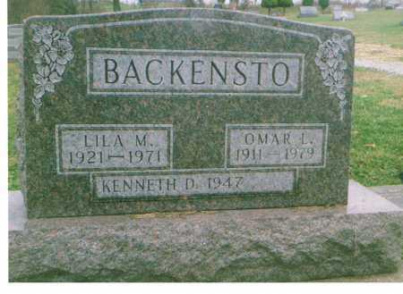 BACKENSTO, OMAR L. - Richland County, Ohio | OMAR L. BACKENSTO - Ohio Gravestone Photos