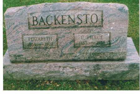 BACKENSTO, URIAH PIERCE - Richland County, Ohio | URIAH PIERCE BACKENSTO - Ohio Gravestone Photos