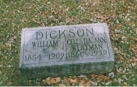 WERTMAN DICKSON, CELESTIA - Richland County, Ohio   CELESTIA WERTMAN DICKSON - Ohio Gravestone Photos