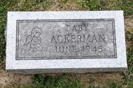 ACKERMAN, BABY - Richland County, Ohio | BABY ACKERMAN - Ohio Gravestone Photos