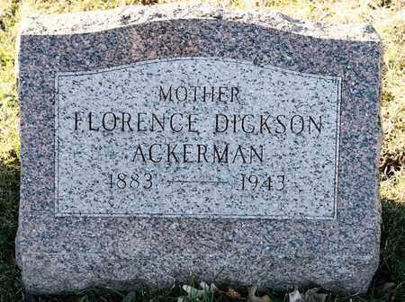ACKERMAN, FLORENCE - Richland County, Ohio   FLORENCE ACKERMAN - Ohio Gravestone Photos