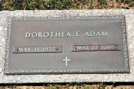 ADAM, DOROTHEA E - Richland County, Ohio   DOROTHEA E ADAM - Ohio Gravestone Photos