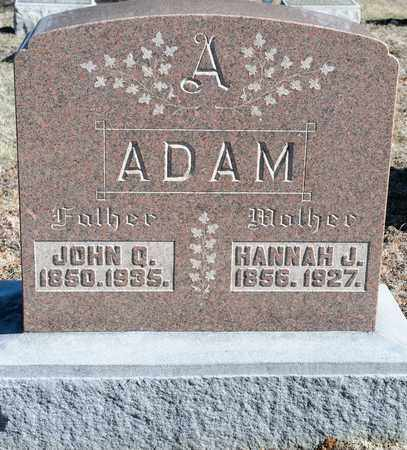 ADAM, JOHN Q - Richland County, Ohio | JOHN Q ADAM - Ohio Gravestone Photos