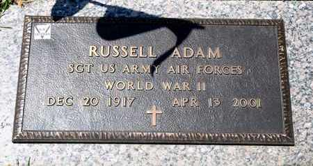 ADAM, RUSSELL - Richland County, Ohio | RUSSELL ADAM - Ohio Gravestone Photos