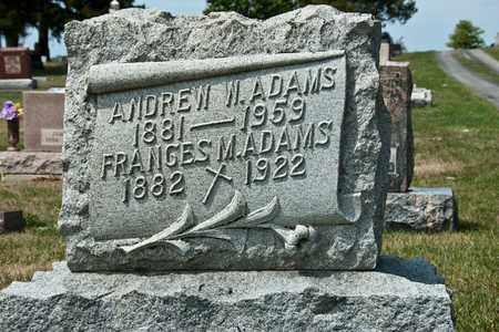 ADAMS, FRANCES M - Richland County, Ohio   FRANCES M ADAMS - Ohio Gravestone Photos