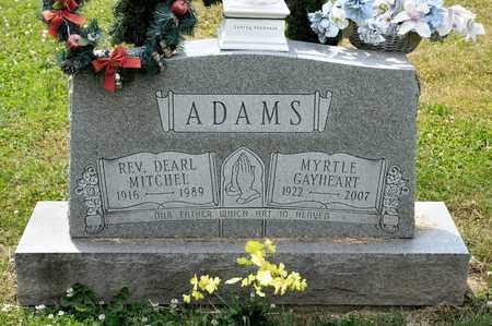 GAYHEART ADAMS, MYRTLE - Richland County, Ohio | MYRTLE GAYHEART ADAMS - Ohio Gravestone Photos