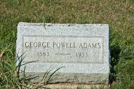 ADAMS, GEORGE POWELL - Richland County, Ohio   GEORGE POWELL ADAMS - Ohio Gravestone Photos