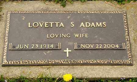 ADAMS, LOVETTA S - Richland County, Ohio | LOVETTA S ADAMS - Ohio Gravestone Photos