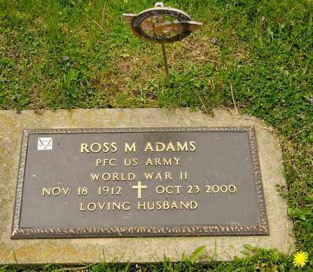 ADAMS, ROSS M - Richland County, Ohio   ROSS M ADAMS - Ohio Gravestone Photos