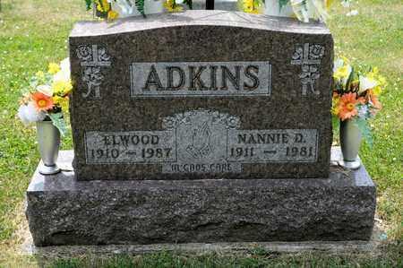 ADKINS, ELWOOD - Richland County, Ohio | ELWOOD ADKINS - Ohio Gravestone Photos