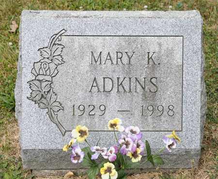 ADKINS, MARY K - Richland County, Ohio | MARY K ADKINS - Ohio Gravestone Photos