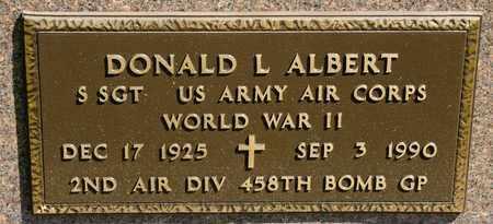 ALBERT, DONALD L - Richland County, Ohio | DONALD L ALBERT - Ohio Gravestone Photos