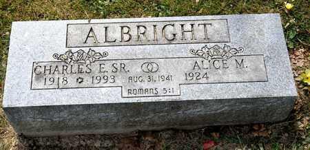 ALBRIGHT SR, CHARLES E - Richland County, Ohio   CHARLES E ALBRIGHT SR - Ohio Gravestone Photos