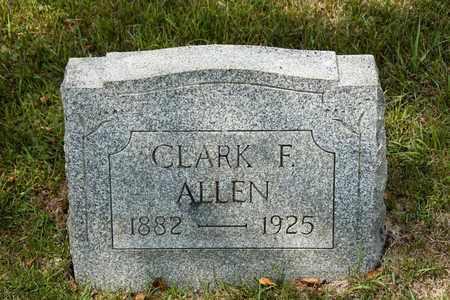 ALLEN, CLARK F - Richland County, Ohio   CLARK F ALLEN - Ohio Gravestone Photos