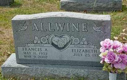 ALLWINE, FRANCIS A - Richland County, Ohio | FRANCIS A ALLWINE - Ohio Gravestone Photos