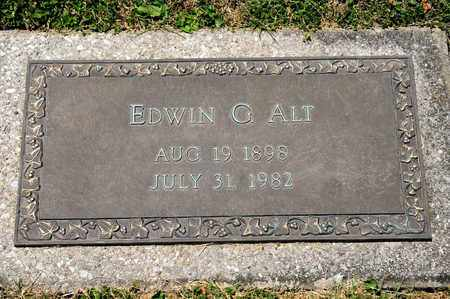 ALT, EDWIN G - Richland County, Ohio | EDWIN G ALT - Ohio Gravestone Photos