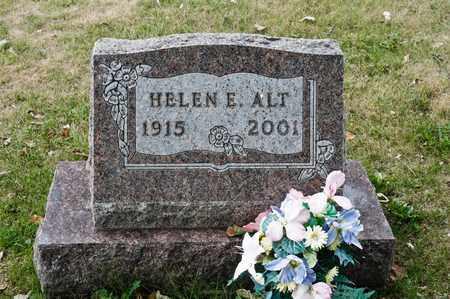 ALT, HELEN E - Richland County, Ohio   HELEN E ALT - Ohio Gravestone Photos